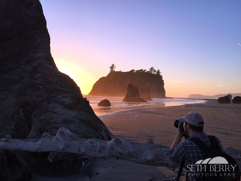 Photographing Ruby Beach