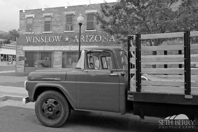 Winslow, AZ Red Pickup