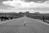 Mile Marker 13 | Monument Valley 1 B&W